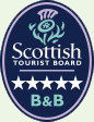 Tigh Na Bruach B&B awarded 5 stars from the Scottish Tourist Board